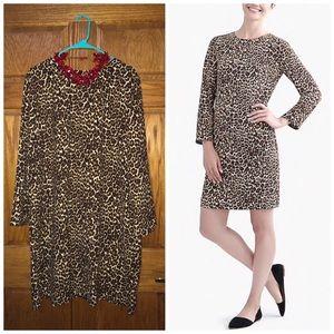 🆕 J. Crew Leopard Print Shift Dress Sz 22
